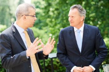 Jan Palmowski (Secretary-General of The Guild) and Robert-Jan Smits (Director-General for Research and Innovation) /Photographed by F. de Ribaucourt