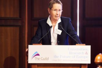 Ulrike Beisiegel, President of the University of Göttingen, giving the closing remarks/Photographed by F. de Ribaucourt