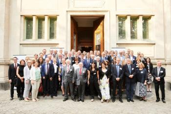 Representatives from the Guild member universities/Photographed by F. de Ribaucourt. On June 2, we welcomed the University of Bern as our 19th member, and we elected a new board, chaired by Vincent Blondel - Rector of the University of Louvain.